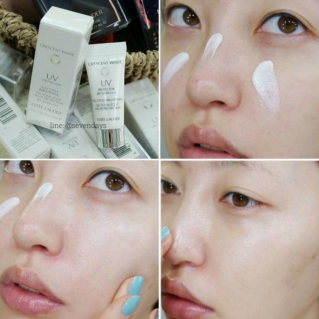Estée Lauder Crescent White Full Cycle Brightening bảo vệ da khỏi tia cực tím UVA/UVB, sáng da, ngăn ngừa nám.