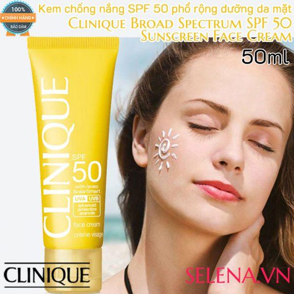 Kem Chống Nắng Clinique Sunscreen Face Cream SPF50 - 50ML