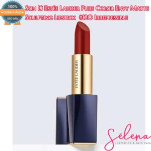 Son Lì Estée Lauder Pure Color Envy Matte- Sculpting Lipstick#120 Irrepressible