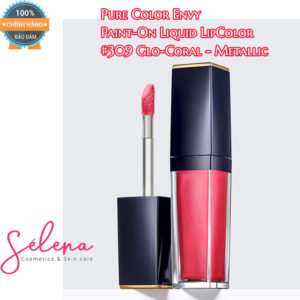 Son Môi Estee Lauder Pure Color Envy Paint-On Liquid LipColor #309 Glo-Coral - Metallic