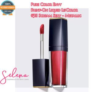 Son Môi Estee Lauder Pure Color Envy Paint-On Liquid LipColor #311 Scream Sexy - Metallic