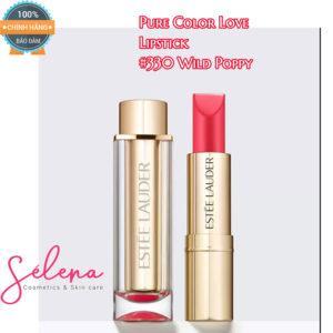 Son Thỏi Estée Lauder Pure Color Love Lipstick #330 Wild Poppy - Edgy Creme