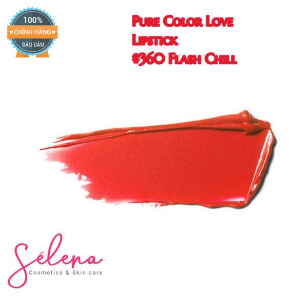 Son Thỏi Estée Lauder Pure Color Love Lipstick #360 Flash Chill - Shimmer Pearl.