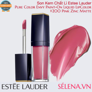 Son kem lì Pure Color Envy Paint-On Liquid LipColor #200 Pink Zinc Matte