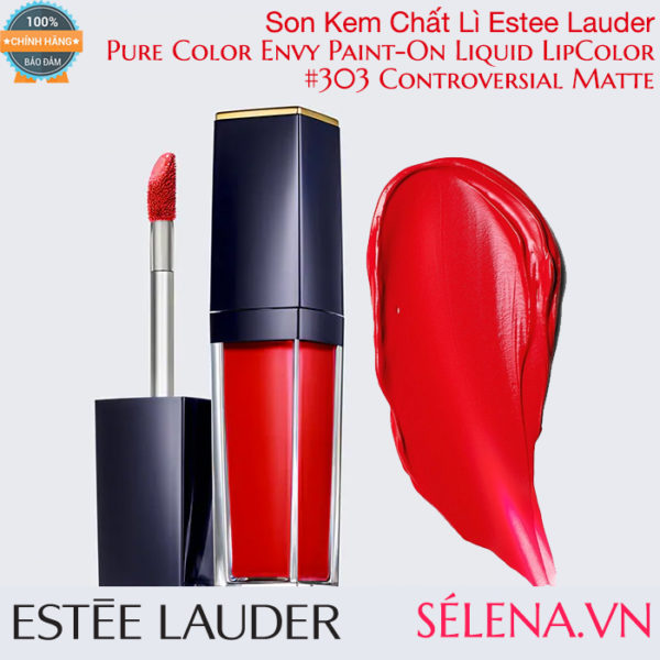 Son kem lì Pure Color Envy Paint-On Liquid LipColor #303 Controversial Matte