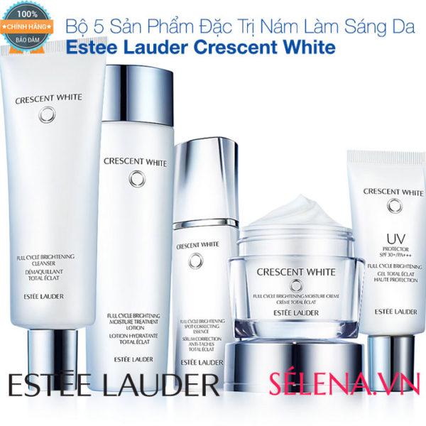 Bộ 5 Sản Phẩm Đặc Trị Nám Làm Sáng Da Estee Lauder Crescent White