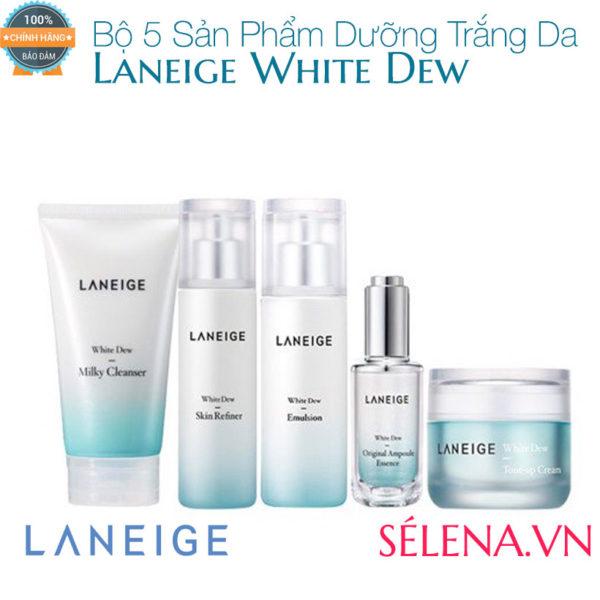 Bộ 5 Sản Phẩm Dưỡng Trắng Da Laneige White Dew