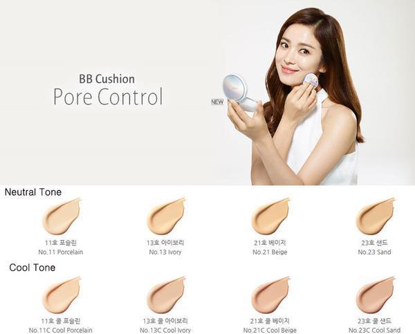 Bộ mã màu Kem Nền Dưỡng Trắng Da Laneige BB Cushion Whitening SPF 50 PA+++ cho bạn lựa chọn.