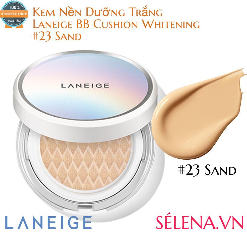 Kem Nền Dưỡng Trắng Laneige BB Cushion Whitening #23 Sand