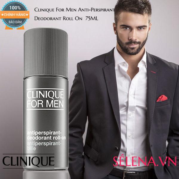 Lăn khử mùi Clinique For Men Antiperspirant-Deodorant Roll-on 75ml