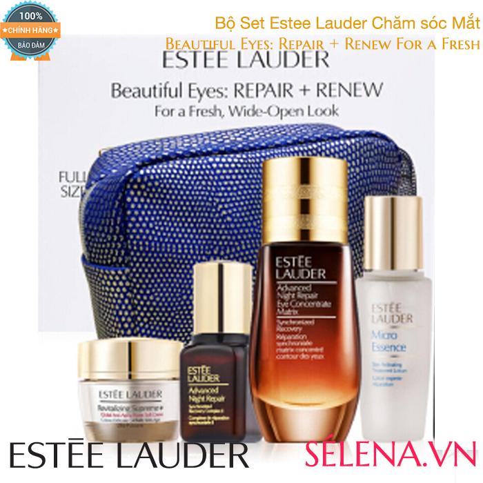 Bộ Set Estee Lauder Beautiful Eyes: Repair + Renew For a Fresh