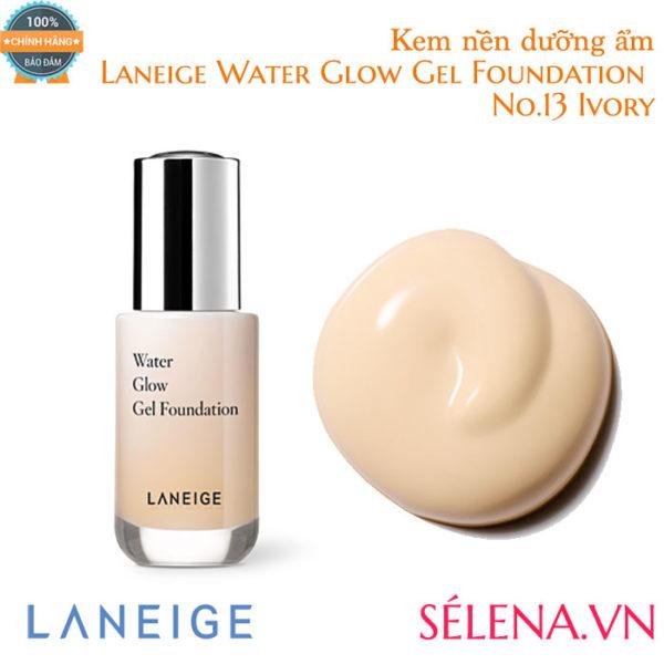Kem nền dưỡng ẩm Laneige Water Glow Gel Foundation #13 Ivory