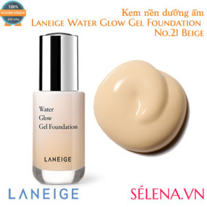 Kem nền dưỡng ẩm Laneige Water Glow Gel Foundation #21 Beige