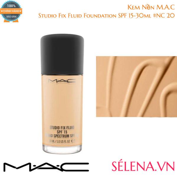 Kem Nền M.A.C Studio Fix Fluid Foundation SPF 15-30ml #NC 20