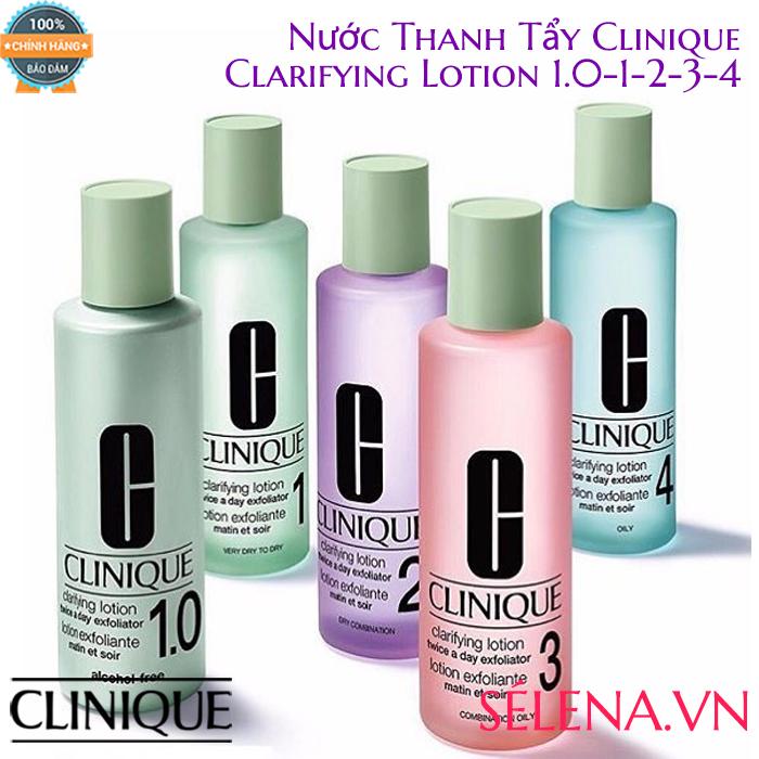 Nước Thanh Tẩy Clinique Clarifying Lotion số 1.0-1-2-3-4