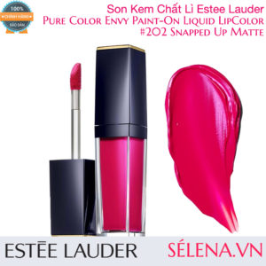 Son kem lì Pure Color Envy Paint-On Liquid LipColor #202 Snapped Up Matte