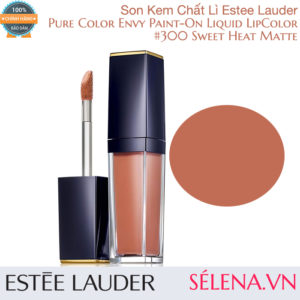 Son kem lì Pure Color Envy Paint-On Liquid LipColor #300 Sweet Heat Matte