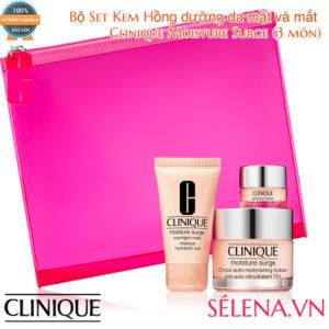 Bộ Set Clinique Moisture Surge dưỡng da mặt và mắt (3 món)