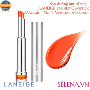 Son dưỡng ẩm có màu LANEIGE Stained Glasstick #5 Mandarin Garnet