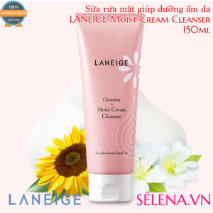 Sữa rửa mặt dưỡng ẩm LANEIGE Moist Cream Cleanser 150ml
