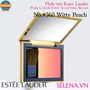 Phấn má Estee Lauder pure colour envy sculpting blush #360 Witty Peach