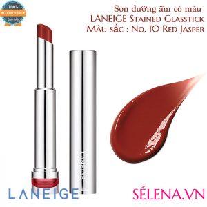 Son dưỡng ẩm có màu LANEIGE Stained Glasstick #10 Red Jasper