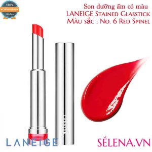 Son dưỡng ẩm có màu LANEIGE Stained Glasstick #6 Red Spinel