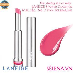 Son dưỡng ẩm có màu LANEIGE Stained Glasstick #7 Pink Tourmaline