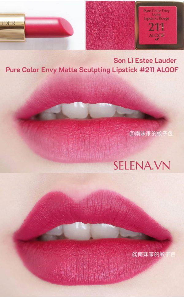 Son Lì Estee Lauder Pure Color Envy Matte Sculpting Lipstick#211 ALOOF