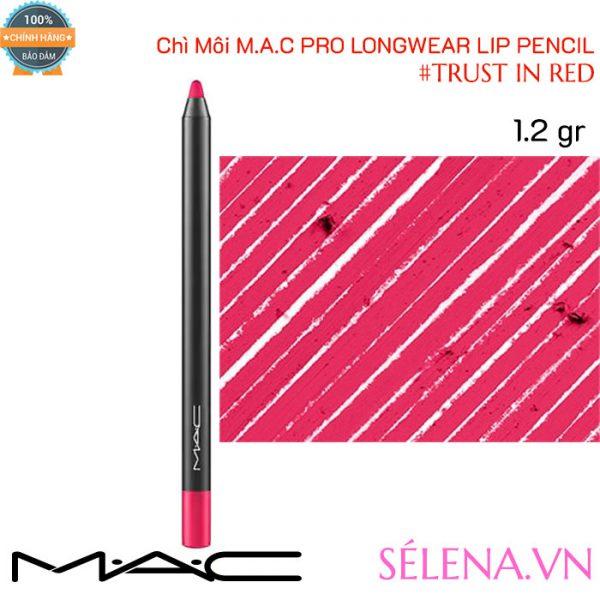 Chì Môi Mac Pro Longwear Lip Pencil màu #Trust In Red 1.2g
