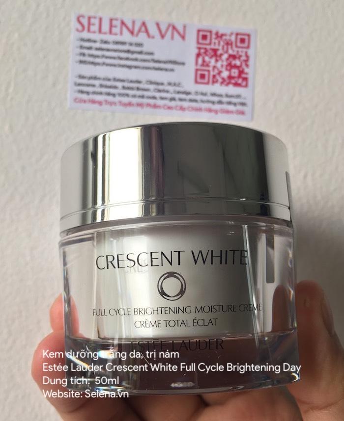 Kem dưỡng trắng da trị nám Estée Lauder Crescent White Full Cycle Brightening Day kem dưỡng trắng, đều màu da, nâng tông màu da, trị thâm nám, và ngăn ngừa các vết sạm nám
