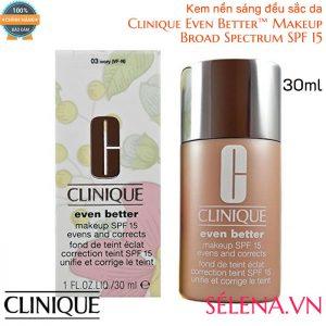Kem nền sáng da Clinique Even Better™ Makeup Broad Spectrum SPF 15