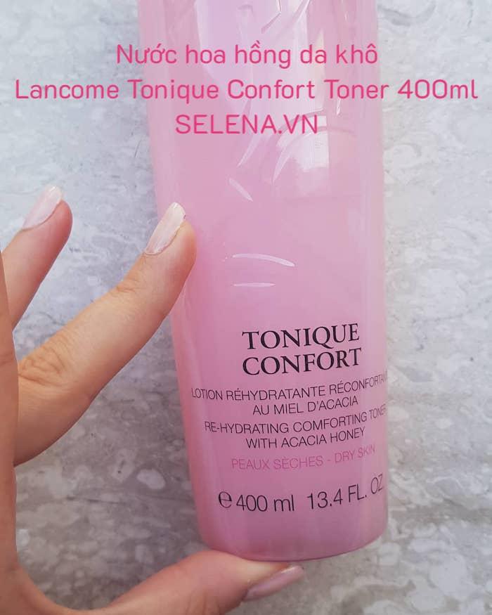 Nước hoa hồng da khô Lancome Tonique Confort Toner 400ml