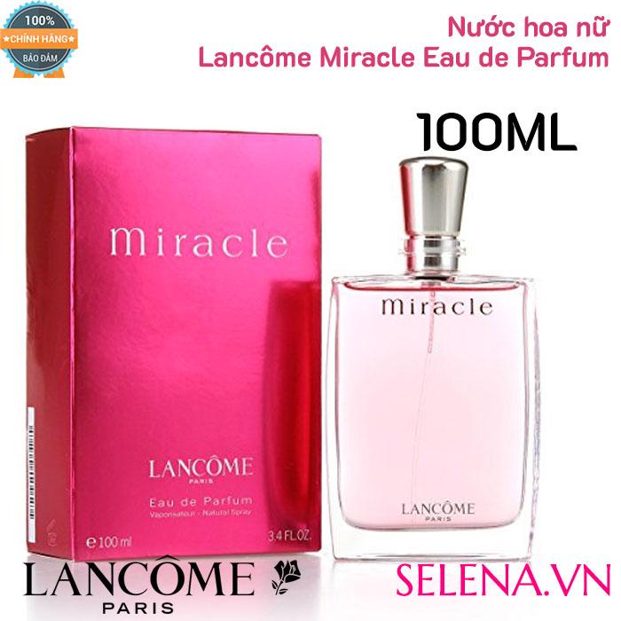 Nước hoa Lancôme Miracle Eau de Parfum chính hãng, dung tích 100ml