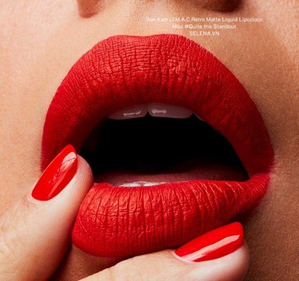 Son Kem Lì M.A.C Retro Matte Liquid Lipcolour #Quite the Standout