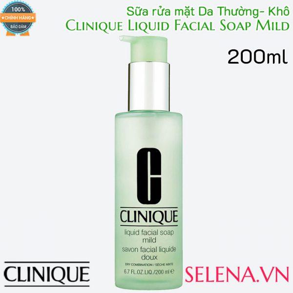 Sữa rửa mặt Da Thường Clinique Liquid Facial Soap Mild 200ml