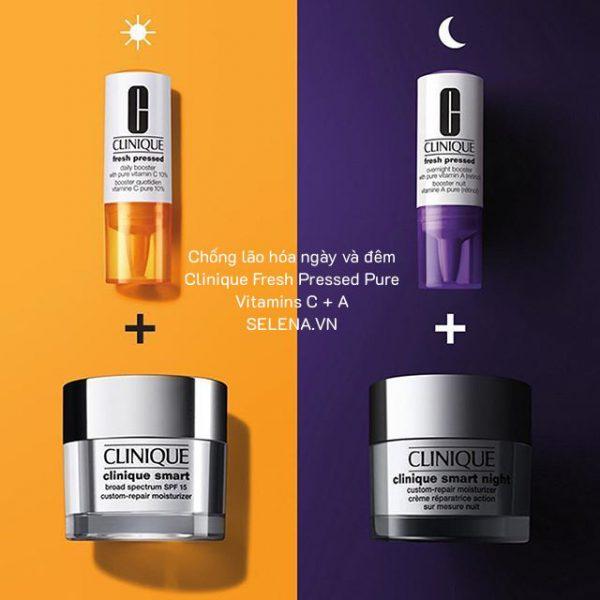 Chống lão hóa ngày và đêm Clinique Fresh Pressed Pure Vitamins C + A