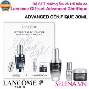 Bộ SET dưỡng ẩm và trẻ hóa da Lancome Giftset Advanced Génifique