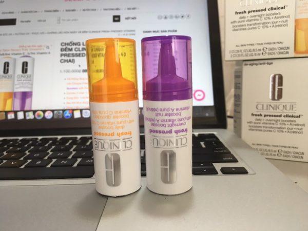 Chống lão hóa ngày và đêm Clinique Fresh Pressed Vitamins C + A (2 chai)