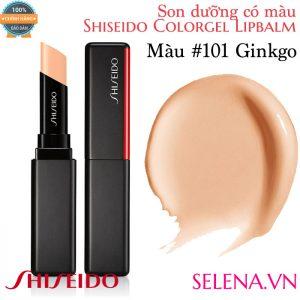 Son dưỡng màu đẹp Shiseido Colorgel Lipbalm #101 Ginkgo