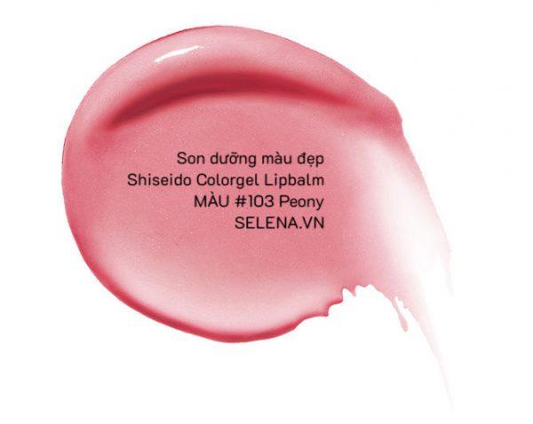 Son dưỡng màu đẹp Shiseido Colorgel Lipbalm #103 Peony
