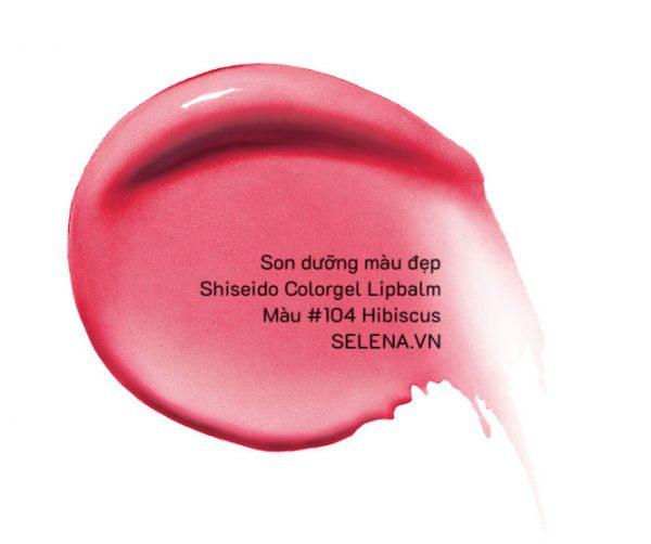 Son dưỡng màu đẹp Shiseido Colorgel Lipbalm #104 Hibiscus