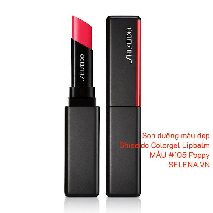 Son dưỡng màu đẹp Shiseido Colorgel Lipbalm #105 Poppy