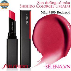 Son dưỡng màu đẹp Shiseido Colorgel Lipbalm #106 Redwood