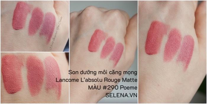 Son dưỡng môi căng mọng Lancome L'absolu Rouge Matte #290 Poeme