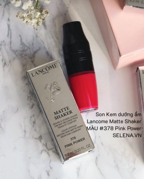 Son Kem dưỡng ẩm Lancome Matte Shaker #378 Pink Power