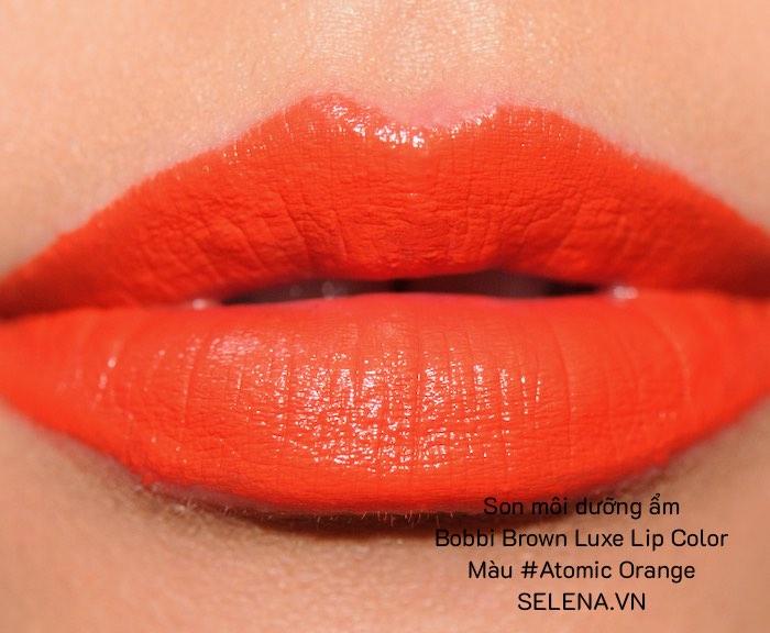 Son môi dưỡng ẩm Bobbi Brown Luxe Lip Color #Atomic Orange