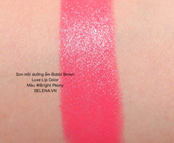 Son môi dưỡng ẩm Bobbi Brown Luxe Lip Color #Bright Peony