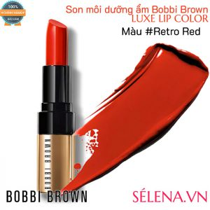 Son môi dưỡng ẩm Bobbi Brown Luxe Lip Color #Retro Red
