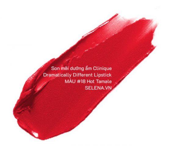 Son môi dưỡng ẩm Clinique Dramatically Different Lipstick #18 Hot Tamale